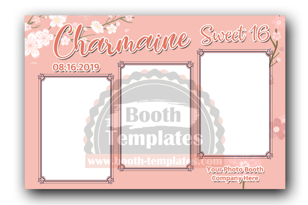 Birthday Photo Booth Template