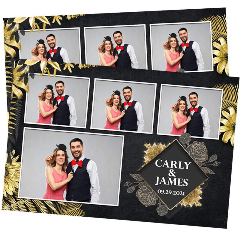 Black and Gold Photo Booth Template