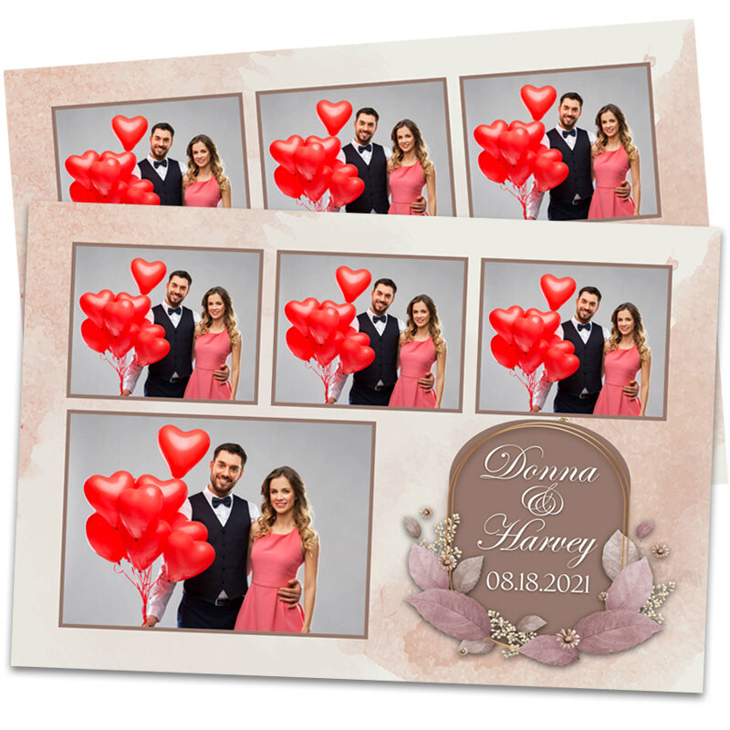 Rose Gold Suede Wedding Photo Booth Template