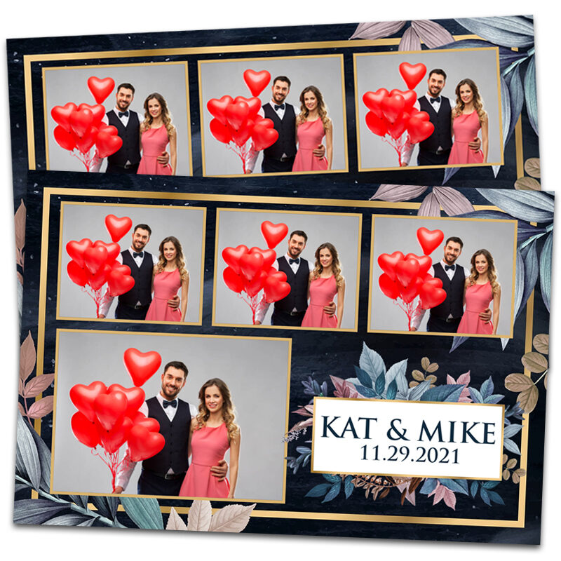 Blue and Pink Wedding Photo Booth Template