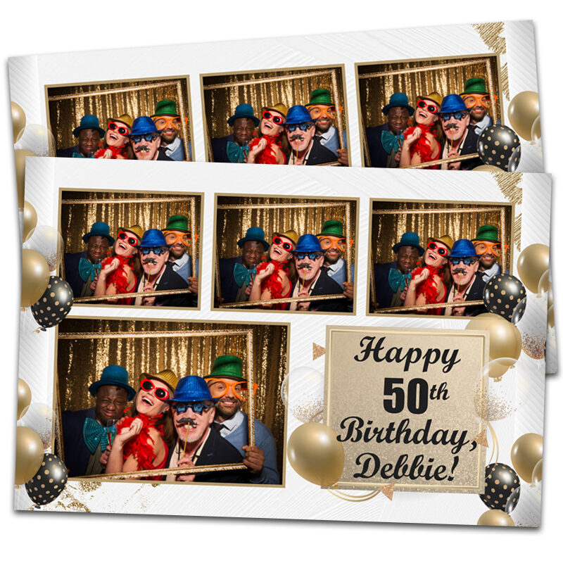 Golden Photo Booth Template